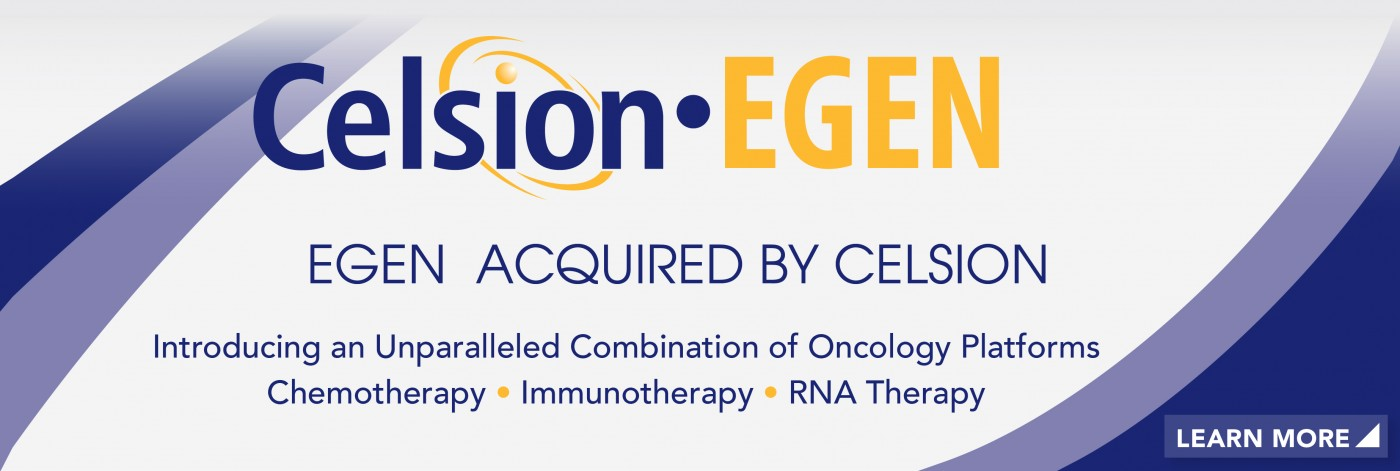 Celsion Acquires EGEN, Adding RNA Therapeutics, Immunotherapy To Cancer Therapy Platform